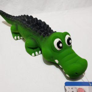 juguete Cocodrilo de látex, único color.