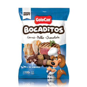BOCADITOS CARNE POLLO CHOCOLATE X 100 GS